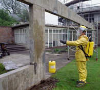 Application of Sika FerroGard 903 Corrosion Inhibitor to Protect Reinforced Concrete Surface by Low Pressure Spray