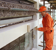 Protective Concrete Surface Coating Application by Hand