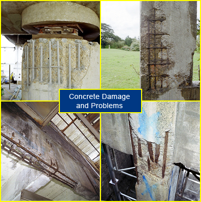 Examples of Concrete Damage and Concrete Problems