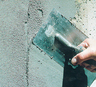 Hand Trowelling of the Concrete Repair Mortar