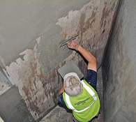 Chemically Resistant Surface Levelling Mortar Finishing for Concrete Repairs to a Containment Tank Surface