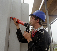 Gun Application of Sikaflex PU Elastic Joint Sealant to a Construction Joint in a Concrete Structure
