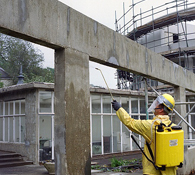 Sika FerroGard 903 Corrosion Inhibitor Application by Low Pressure Spray to Protect a Reinforced Concrete Surface