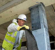 Structural Strengthening of Reinforced Concrete Columns with SikaWrap Carbon Fibre Fabric
